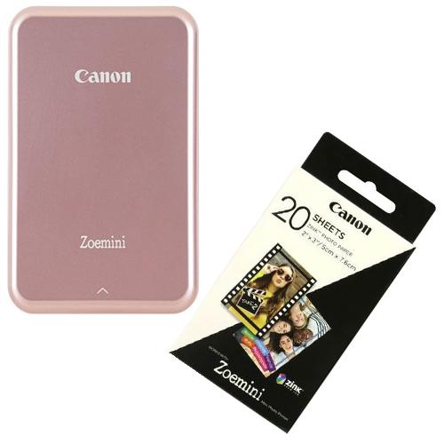 Canon Zoemini Tragbare Bilddrucker Rosé Gold + 20 Blätter