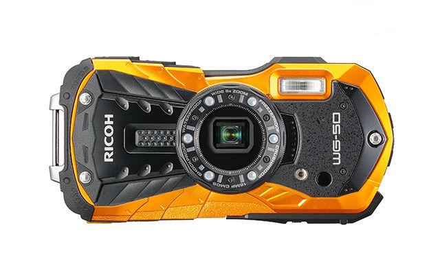Ricoh WG-50 wetterfeste Kompaktkamera orange