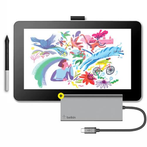 Wacom One + Belkin USB-C Hub
