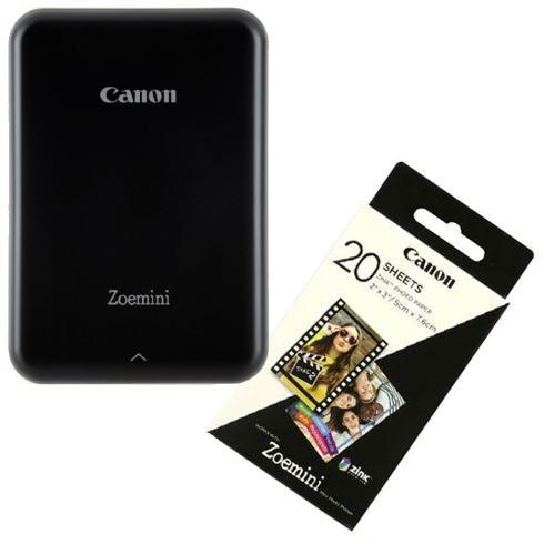 Canon Zoemini Tragbare Bilddrucker Schwarz + 20 Blätter