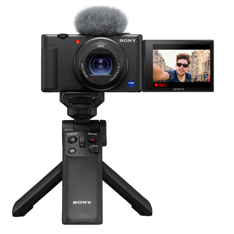 Sony vlog camera ZV-1 + GP-VPT2BT bluetooth vlogging grip | ✔️ Temporär mit 100 € Rabatt | ✔️ 5 Jahre Garantie!