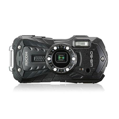 Ricoh WG-60 wetterbeständige Kompaktkamera schwarz