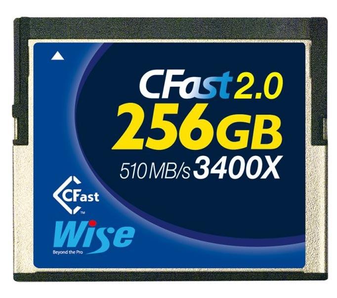 Wise 256GB CFast 2.0 3400X Speicherkarte